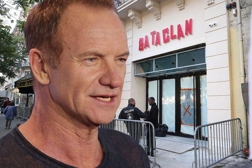 Sting pour le concert de réouverture du Bataclan